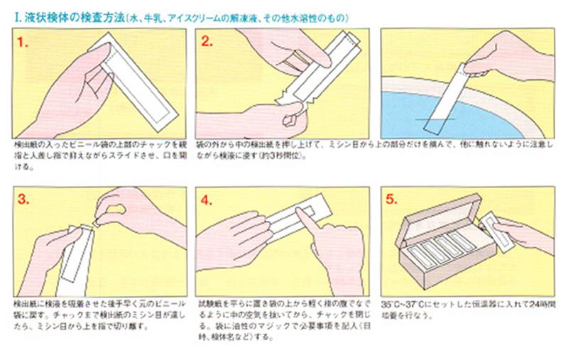 液状検体の検査方法(水、牛乳、アイスクリームの解凍後、その他水溶性のもの)